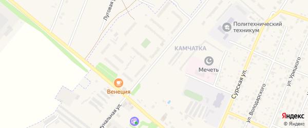Коммунальная улица на карте Шумерли с номерами домов