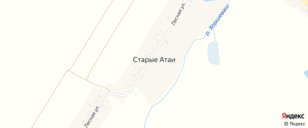 Московская улица на карте деревни Старые Атаи с номерами домов