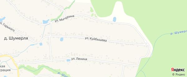 Улица Куйбышева на карте деревни Шумерли с номерами домов