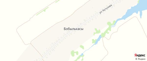 Улица Кутузова на карте деревни Бобылькас с номерами домов