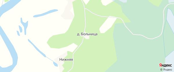 Карта деревни Больницы в Архангельской области с улицами и номерами домов