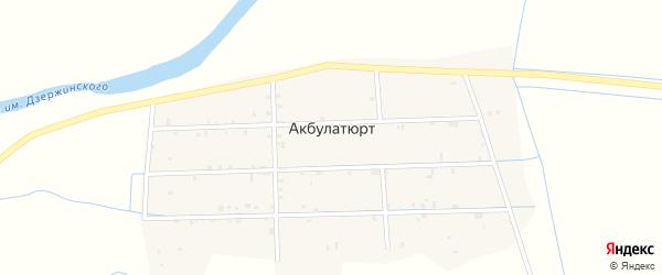 Центральная улица на карте села Акбулатюрта с номерами домов