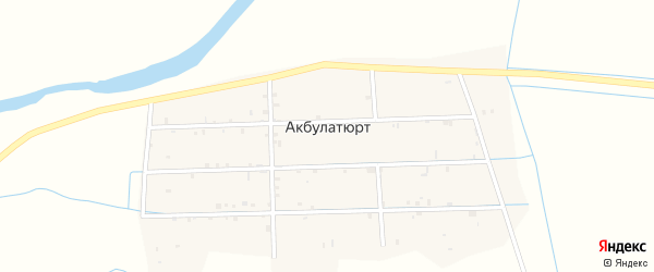 Западный переулок на карте села Акбулатюрта с номерами домов