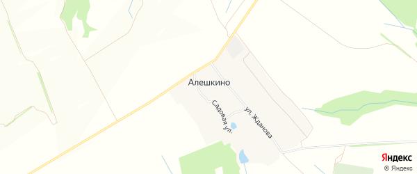 Карта деревни Алешкино в Чувашии с улицами и номерами домов