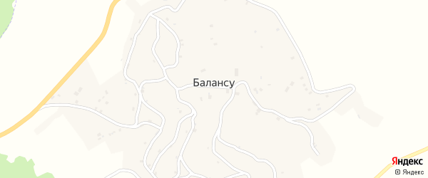 Улица М.Билимханова на карте села Балансу с номерами домов