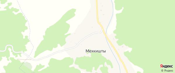 Центральная улица на карте села Мехкишты с номерами домов