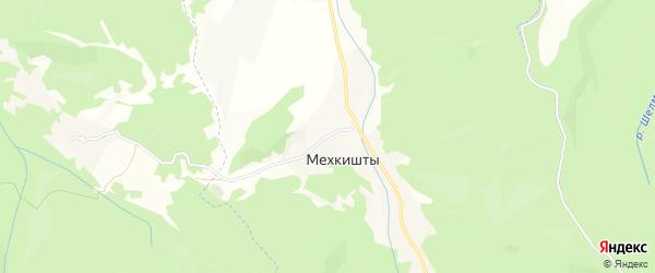 Карта села Мехкишты в Чечне с улицами и номерами домов