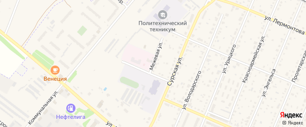Межевая улица на карте Шумерли с номерами домов