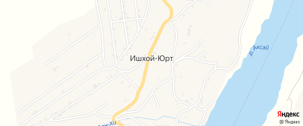 Улица Исраилова на карте села Ишхой-Юрт с номерами домов