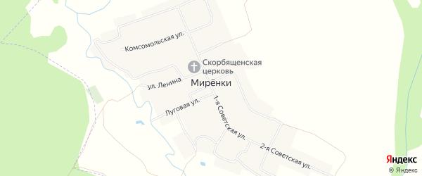 Карта села Миренки в Чувашии с улицами и номерами домов