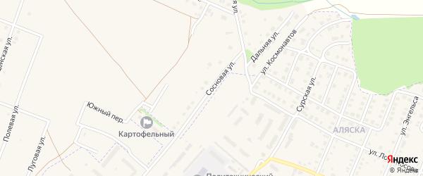 Сосновая улица на карте деревни Шумерли с номерами домов