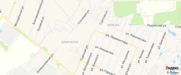 Молодежный ГСК на карте Сурской улицы с номерами домов