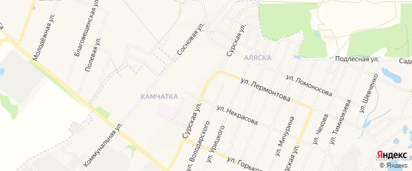 ГСК Луч на карте Сурской улицы с номерами домов