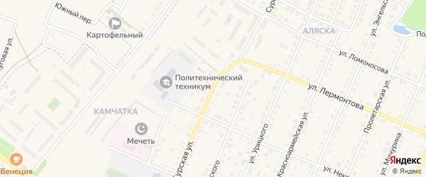 Сурская улица на карте Шумерли с номерами домов