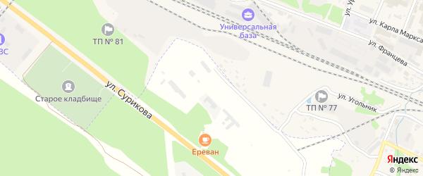70-й квартал на карте территории Шумерлинского лесничества с номерами домов