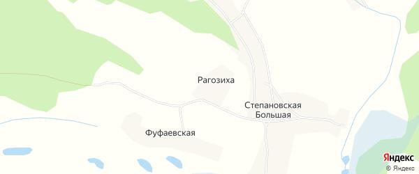 Карта деревни Рагозихи в Архангельской области с улицами и номерами домов