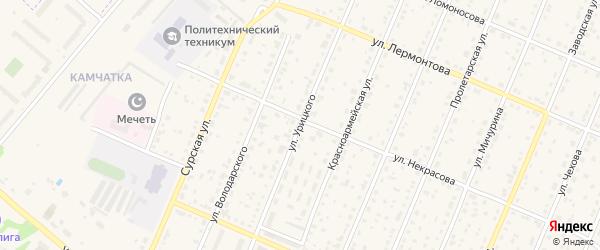 Улица Урицкого на карте Шумерли с номерами домов