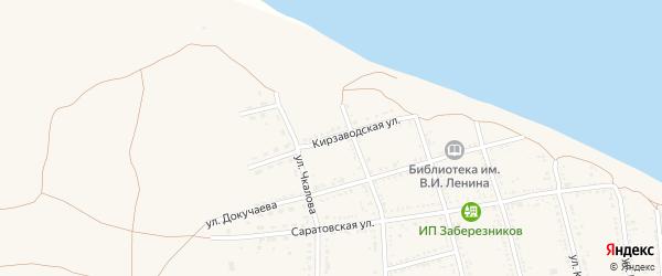 Кирзаводская улица на карте Никольского села с номерами домов