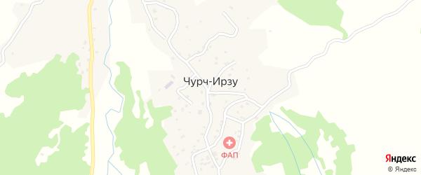 Улица Б.Х.Исраилова на карте села Чурча-Ирзу с номерами домов