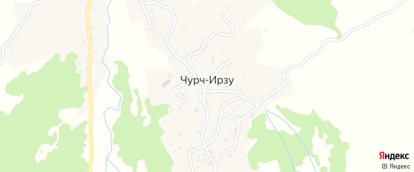 Улица А.А.Кадырова на карте села Чурча-Ирзу с номерами домов