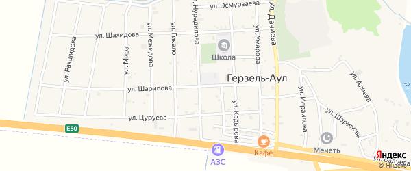 Улица Шарипова на карте села Верхнего Герзель с номерами домов