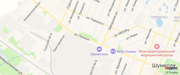 СТ 50 лет КАФ на карте Шумерли с номерами домов