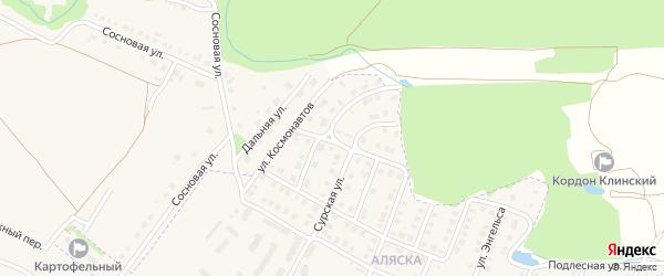 Улица Космонавтов на карте Шумерли с номерами домов