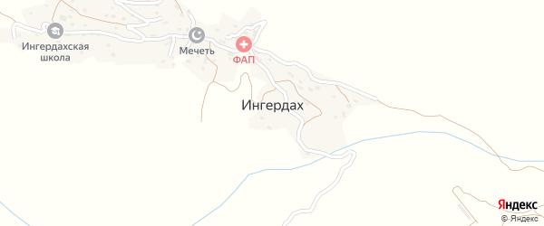 Ингердахская улица на карте села Ингердаха с номерами домов