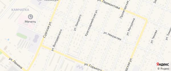 Красноармейская улица на карте Шумерли с номерами домов