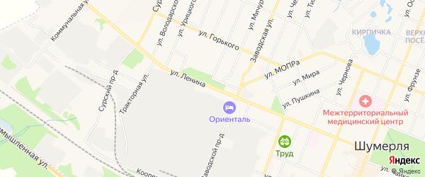 ГСК Жигули на карте улицы Ленина с номерами домов