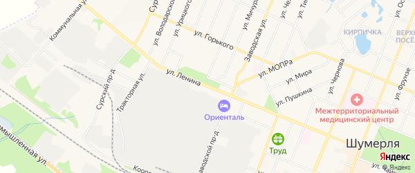 ГСК Радан на карте улицы Ленина с номерами домов