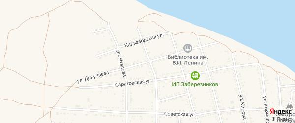 Улица Докучаева на карте Никольского села с номерами домов
