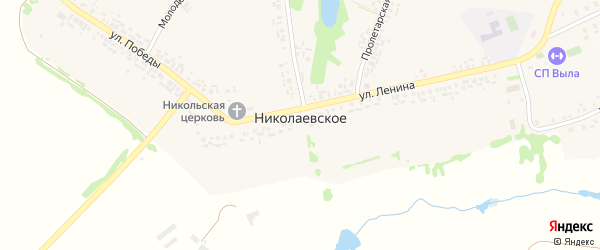 Молодежная улица на карте Николаевского села с номерами домов