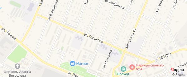 Улица Горького на карте Шумерли с номерами домов