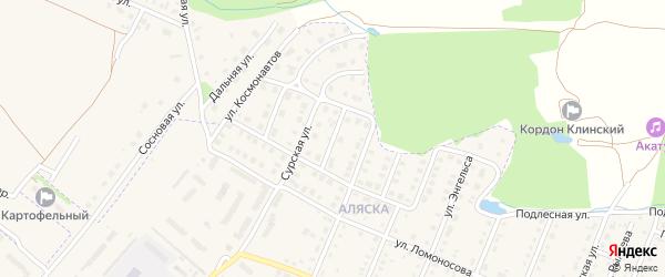 Звездный переулок на карте Шумерли с номерами домов