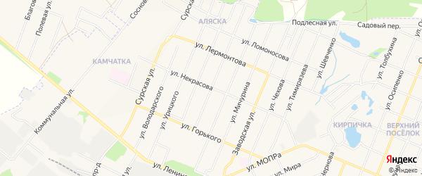 ГСК Дуслык на карте улицы Некрасова с номерами домов