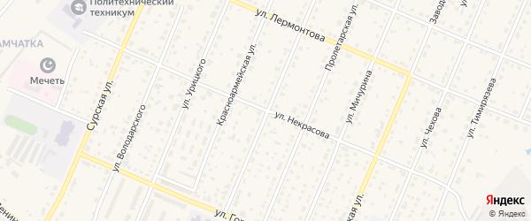 Улица Некрасова на карте Шумерли с номерами домов