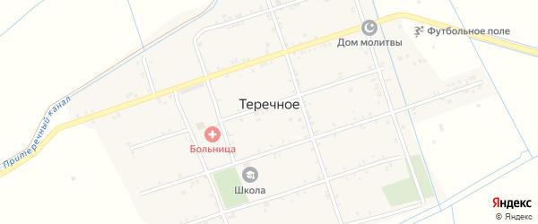 Набережная улица на карте Теречного села с номерами домов
