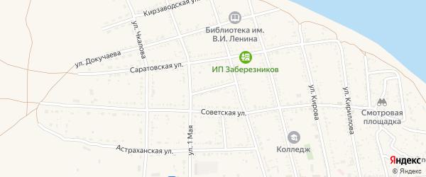 Переулок Суворова на карте Никольского села с номерами домов