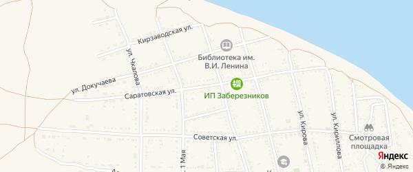 Саратовская улица на карте Никольского села с номерами домов