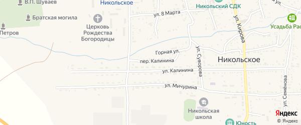 Переулок Калинина на карте Никольского села с номерами домов