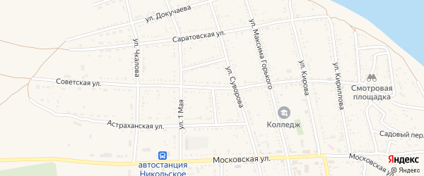 Советская улица на карте Никольского села с номерами домов