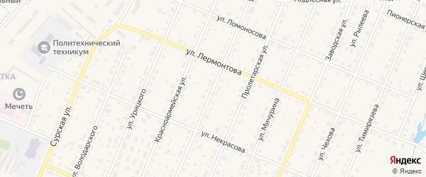 Улица Энгельса на карте Шумерли с номерами домов