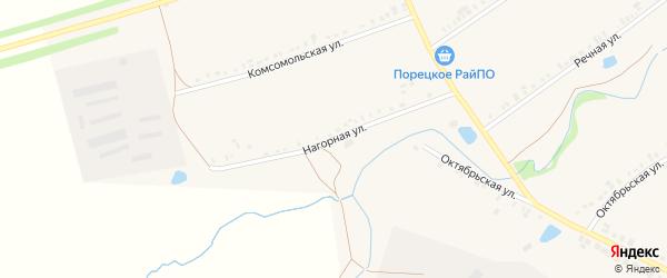 Нагорная улица на карте села Сыреси с номерами домов