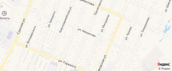 Пролетарская улица на карте Шумерли с номерами домов