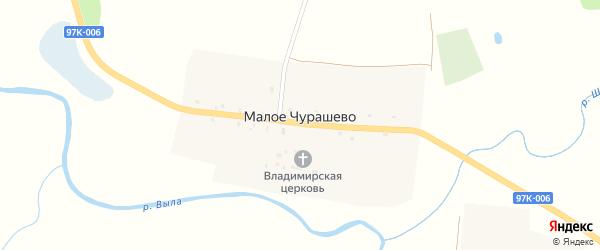 Шоссейная улица на карте села Малое Чурашево с номерами домов