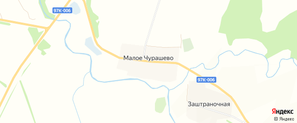 Карта села Малое Чурашево в Чувашии с улицами и номерами домов