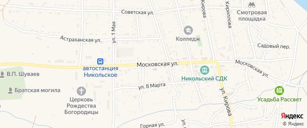 Московская улица на карте Никольского села с номерами домов