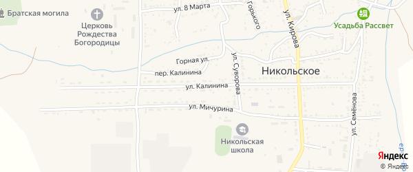 Улица Калинина на карте Никольского села с номерами домов