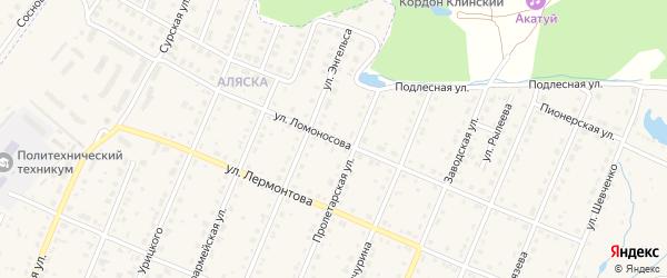 Улица Ломоносова на карте Шумерли с номерами домов